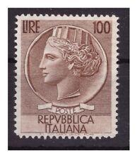 ITALIA 1954  -  ITALIA TURRITA  100 LIRE   RUOTA   NUOVO (*)  senza gomma