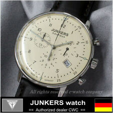 Free shipping JUNKERS BAUHAUS QUARTZ Chronograph 6086-5QZ New Made in GERMANY