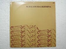 M BALAMURALI KRISHNA CARNATIC MRIDANGAM VIOLIN VOCAL 1968 RARE LP CLASSICAL MINT