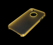 NEW LOGO HOLE YELLOW/CLEAR APPLE IPHONE 4 4S SMARTPHONE CASE SUPER FAST SHIPPING