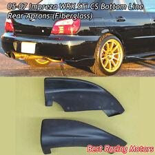 CS Style Rear Bumper Aprons (Fiberglass) Fits 05-07 Subaru Impreza STi