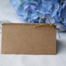 50x Vintage Kraft Paper Blank Place Name Card Wedding Table Card Twine Bow
