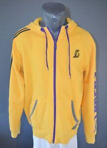 Los Angeles Lakers NBA Jacket Basketball Hoodie Sweatshirt Mens Full Zip Size L