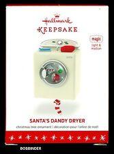 Hallmark 2016 Santa's Dandy Dryer Keepsake Ornament  Magic Light Motion NIB