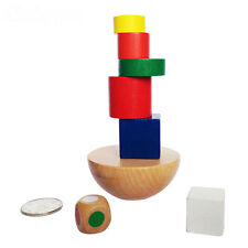 Top Funny Balance Wooden Block Puzzle Game Toy Baby Kid Educational Building