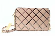 Authentic Michael Kors Oyster JS Travel Large EW Diamond Quilted Crossbody Bag
