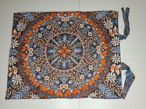 Aphorism Anthropologie Standard Pillow Sham Blue Orange Mandela Print Ties ONE