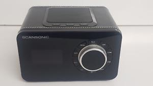 SCANSONIC R4 Leder schwarz Internetradio UKW Tuner  Internet Tuner Schwarz