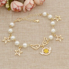 Anime Card Captor Sakura Star Wing Pendant Bracelet Bangle Cosplay Jewelry Gift