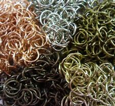 100 x  10mm x 9mm BRONZE Tone Triangle Jump Rings bails Key sink Chains Findings