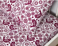 NEW LIVING TEXTILES 2PC COT FITTED SHEET & PILLOWCASE SET IN BIRDS.