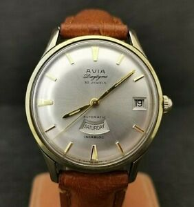 Gents Stunning Avia Daytyme Watch. Automatic. 30 Jewels. Cal 4009.
