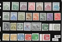 #5851   Mint - MNG All different stamps /  B a M WWII Occupation / Third Reich