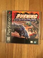 BURNING ROAD - PLAYSTATION - COMPLETE W/MANUAL - FREE S/H (L)