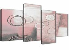 Large Blush Pink Grey Painting Abstract Bedroom Canvas Decor - 4433 - 130cm