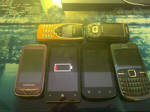 Lot Telephones Portables