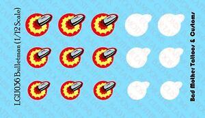 printed on white backing 1//12 GI Joe Arashikage Logos Waterslide Decals