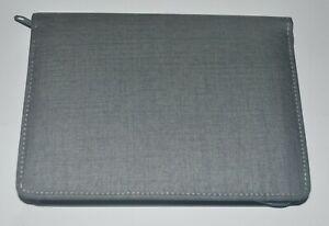 Pen Bag Grey Case Soft Linings For 10 Pens Handmade NEW