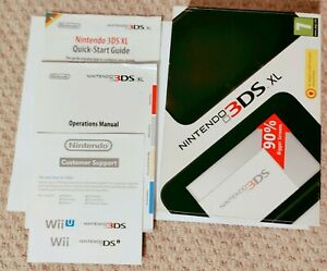 Nintendo 3DS XL black and silver box, manuals, only.NO CONSOLE INCLUDED.