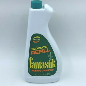 Vintage 1970s Fantastik Cleaner Texize Economy Refill 32 oz Bottle Full HS1