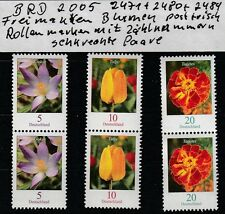 Alemania 2005 minr.: 2471,2480,2484 post flores recién roles de ver marcas