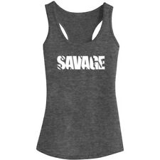 Womens Savage GYM Fitness Workout Racerback Tank Tops