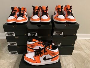 Jordan 1 Mid SE Turf Orange Patent Leather DD6834-802 Men Size 8-13 In hand
