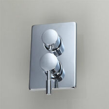 Bathroom Chrome 3-Ways Control Value Mixer Taps Brass Shower Faucet Accessories