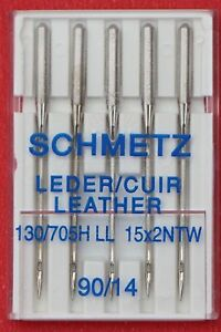 Schmetz Leather sewing machine needles, 90/14,  pkt of 5