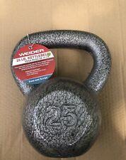 Weider 25 lb Pound Kettlebell Hammertone Grey Cast Iron FAST SHIPPING