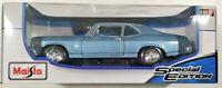 1970 Nova SS (Maisto) Chevy Coupe Blue 1/18 Scale Diecast Car