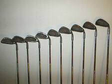 #RARE# COMPLETE PINSEEKER HB&S ALDRIDGE WORLD TOUR GOLF IRON SET +WOODS PLUS BAG