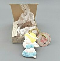 Vintage Hallmark Ornament ANGEL Hand Painted Ceramic with Tags 1983