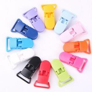 10Pcs Baby Safe Dummy Plastic Pacifier Clip Holder Soother Pacifier Chain Making