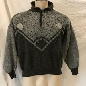 Amici Perla Pelle Collared Sweater Made in Italy Mens Size M