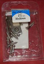 HSI 946852 Scharniere vernickelt 30x30mm VE= 2 Stück (B60)