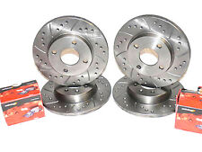 Audi A7 3.0TFSi Quattro 2012- Drilled Grooved Front &  Rear Brake Discs + Pads