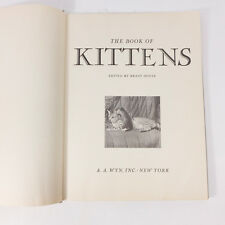 Vintage 1951 The Book of Kittens Brant House Photographs Book Hardcover Book