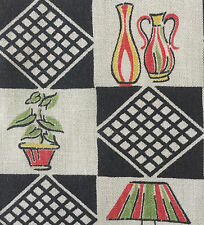 1940s/1950s VINTAGE COTTON  FABRIC - MID-CENTURY MODERN/ATOMIC DESIGN