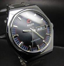 Rado Companion Black 25 Jewels Swiss Day&Date Automatic Watch