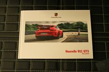 RAR VIP Prospekt/brochure Hardcover Porsche 911 Carrera GT3 991 1/2017 franz.