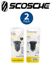Scosche ReVolt Dual Port USB Fast Car Charger 15 Watt Total Output 2 PACK