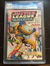 JUSTICE LEAGUE OF AMERICA #20 CGC NM- 9.2; OW; Mystery of Spaceman X!