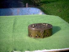 Vintage Bronze/Brass Pierced Trinket Box with Latch, 2 No.12's Ingraved on Front