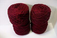 acrylic worsted wt 4 ply yarn black cherry 4 balls 3.5 oz each