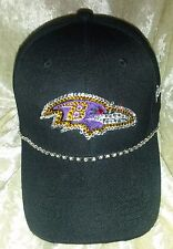 Baltimore Ravens Womens Ladies Rhinestone Bling NFL Cap Hat ~NEW~