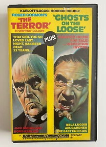 The Terror + Ghosts On The Loose [VHS] Hollywood House Video Rental Tape Horror