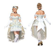 Adult Women Fairy Tale Movie Deluxe Disney Princess Costume Cosplay Fancy Dress