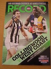 2012 AFL FOOTBALL RECORD 1ST SEMI FINAL MAGPIES EAGLES