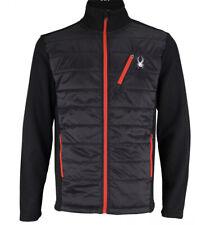NEW Spyder Jacket Men's Size Large Black HydroWEB Full Zip Ski Hoodie Hyper Coat